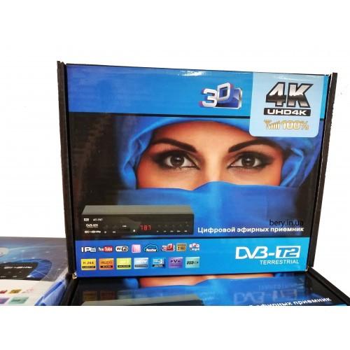 Цифровой Тюнер Т2 АТ-787 Приставка с WiFi HDMI USB просмотром YouTube IPTV MEGOGO