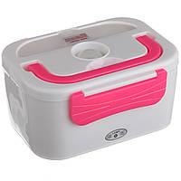 Автомобильный ланч бокс с подогревом Lanch Box, 3066YY/ 12v, Розовый