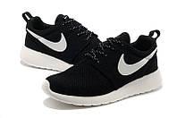"Кроссовки унисекс Nike Roshe Run ""Черные с белым"" р. 37, 40, 46"