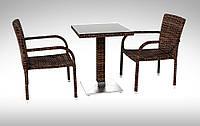 Комплект плетеный для кафе  Antilope VI  стол+2 кресла