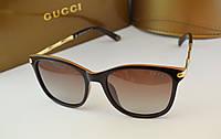 Женские солнцезащитные очки Gucci 6104 коричневый цвет, фото 1