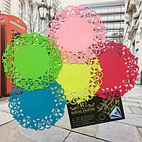 """Резиновые подставки под кружку """"Амели"""" разные цвета 5 шт в наборе."""