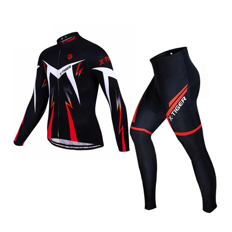 Велокостюм X-Тiger XM-CT-01302 Red 4XL кофта с длинным рукавом штаны для велосипедистов