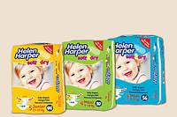 Подгузники Хелен Харпер Helen Harper Soft&Dry 3-56шт, 4-50шт, 5-44шт