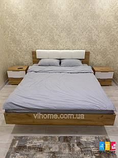 Кровать без каркаса Асти Дуб Крафт-Глянец Белый ТМ МироМарк