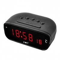 Годинники електронні VST-888Y, термометр, влагометр, будильник, дзеркальні