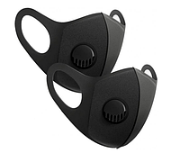Маска защитная многоразовая Fashion Mask тканевая чёрная 10 шт.