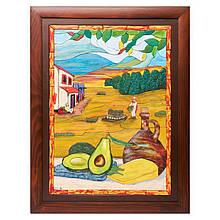 "Картина-мозаика из дерева 34*44 ""Авокадо"""