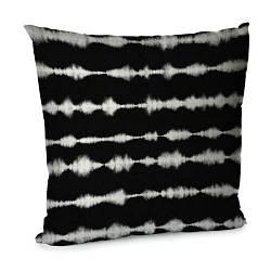 Подушка диванна з оксамиту Белый шум на черном фоне 45x45 см (45BP_SEA004)