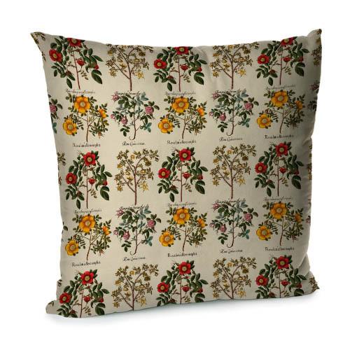 Подушка диванна з оксамиту Botanical flowers 45x45 см (45BP_FLORA007)