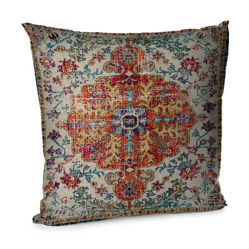 Подушка диванная с бархата Персидский узор 45x45 см (45BP_CASA005)