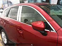 Хромированные накладки на стекла (стекольный молдинг) Mazda CX5 2011+