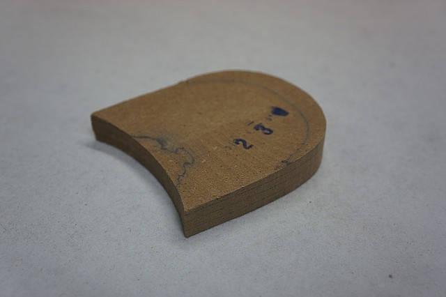 Каблук деревянный (мазанит) без набойки (высота-18мм) р.44-45, фото 2