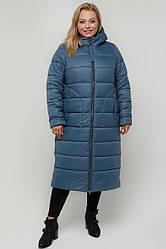 Зимовий брендове довге пальто прямого силуету, великі розміри, утеплювач G-Loft 200