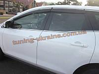 Ветровики с хром кантиком на Mazda CX7