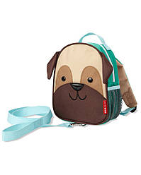 Дитячий міні-рюкзак з повідцем Skip Hop Zoo let (mini backpack with rein) - Pug (Собачка Мопс), 1-4 р.