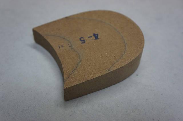 Каблук деревянный (мазанит) без набойки (высота-24мм) р.44-45, фото 2