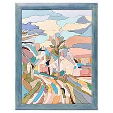 """Картина-мозаїка з дерева 34 * 44 """"Село"""""""