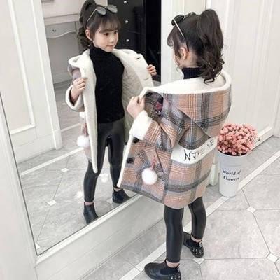 Дитяче пальто для дівчинки в клітинку Сусанна, фото 2