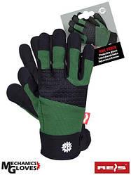 Захисні рукавички з високоякісної синтетичної шкіри в поєднанні з дихаючим спандексом