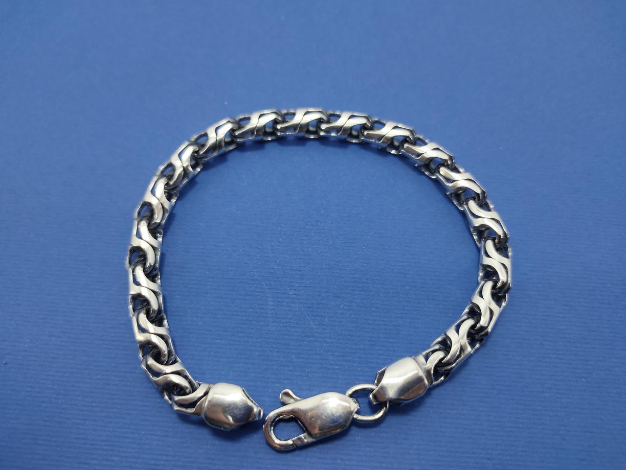 Срібний браслет, 19 см., 25 гр.