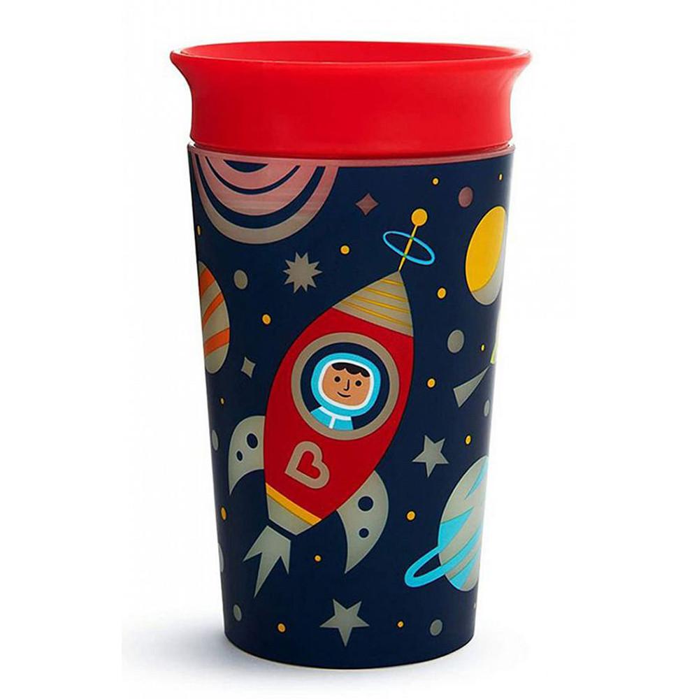 Чашка непроливная красная 266 мл Munchkin Miracle 360 Glow in the Dark (735282211935)