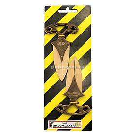 Іграшковий ніж дерев'яний набір «Ножі точкових CS GO» Counter Strike, 2 шт., 12 см (Shadow daggers)