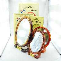 Зеркало увеличительное двухсторонние с пластиковой оправой Круглое №8