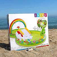 Детский надувной игровой центр-бассейн Intex «Мой сад» 290x180x104 см, 450 литра,с надувными игрушками,, фото 2