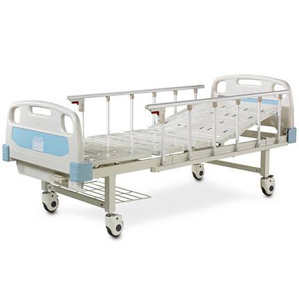 Медична механічна ліжко (2 секції) OSD-A132P-C, фото 2