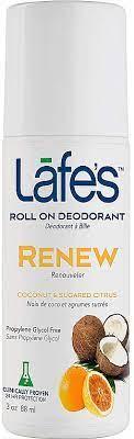 Дезодорант Lafe's roll-on Renew 88ml (Кокос та Солодкий цитрус)