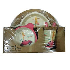 """Набір дитячого посуду з бамбука """"Корова"""" арт. 870-24387"""