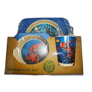 """Набор детской посуды из бамбука """"Человек-Паук"""" арт. 870-24362, фото 2"""