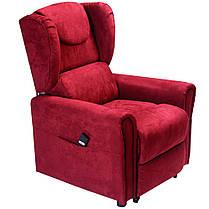 Підйомне крісло з двома моторами (червоне) OSD-BERGERE JP04-1LD, фото 2