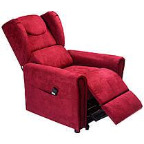 Підйомне крісло з двома моторами (червоне) OSD-BERGERE JP04-1LD, фото 3