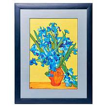 "Картина-мозаїка з дерева 34 * 44 ""Іриси. Ван Гог"""