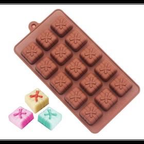 """Силиконовая форма для конфет """"Подарок"""" арт. 840-15A41440"""