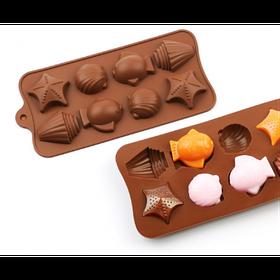 """Силиконовая форма для конфет """"Ракушки"""" арт. 840-15A05829"""