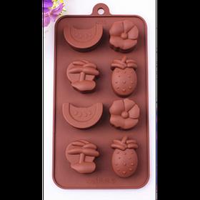 """Силиконовая форма для конфет """"Фрукты"""" арт. 840-15A43438"""