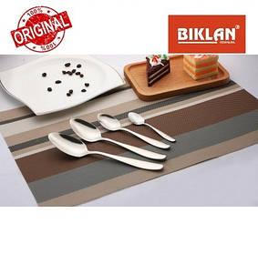 """Ложка столова """"Гладь"""" BIKLAN (полірована нержавіюча сталь, 6 шт. в упаковці), арт.304101"""
