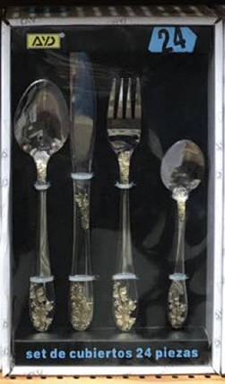 Набор столовый  AYD Ветка  в подарочной упаковке (24 предмета), арт 164121, фото 2