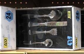 """Набор столовый """"Гладь"""" AYD в подарочной упаковке (24 предмета), арт 300721"""
