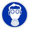 Предписывающий знак «Работать в средствах защиты органов дыхания»