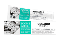 Сертифицированная органическая зубная паста  «ZOOM 3 WHITE»  безопасное отбеливание, 100 мл