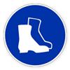 Предписывающий знак «Работать в защитной обуви».