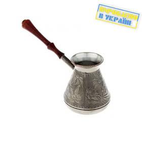 Турка медная 0.6 л Украина (тёмная ручка) арт. 213006