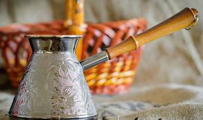 Турка мідна 0.75 л П'ятигорськ (темна ручка) арт. 4257, фото 2