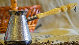 Турка медная Пятигорск 0.7 л (светлая ручка) арт. 3754, фото 2