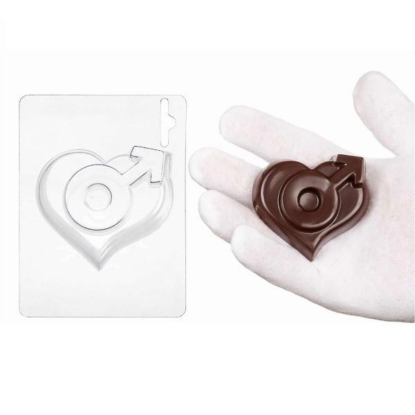 "Пластиковая форма для шоколада ""Мужское сердце"" арт. ВК02062061"