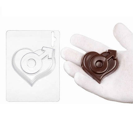 "Пластиковая форма для шоколада ""Мужское сердце"" арт. ВК02062061, фото 2"